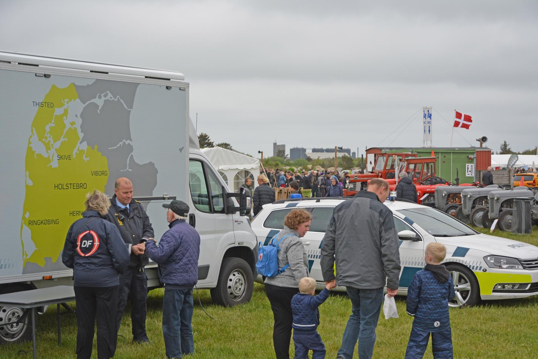 Den mobile politistation havde stort besøg