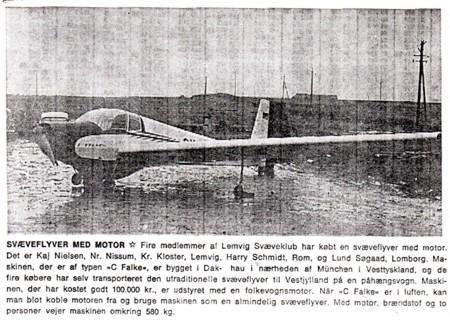 Udklip fra dagbladet 12. januar 1974