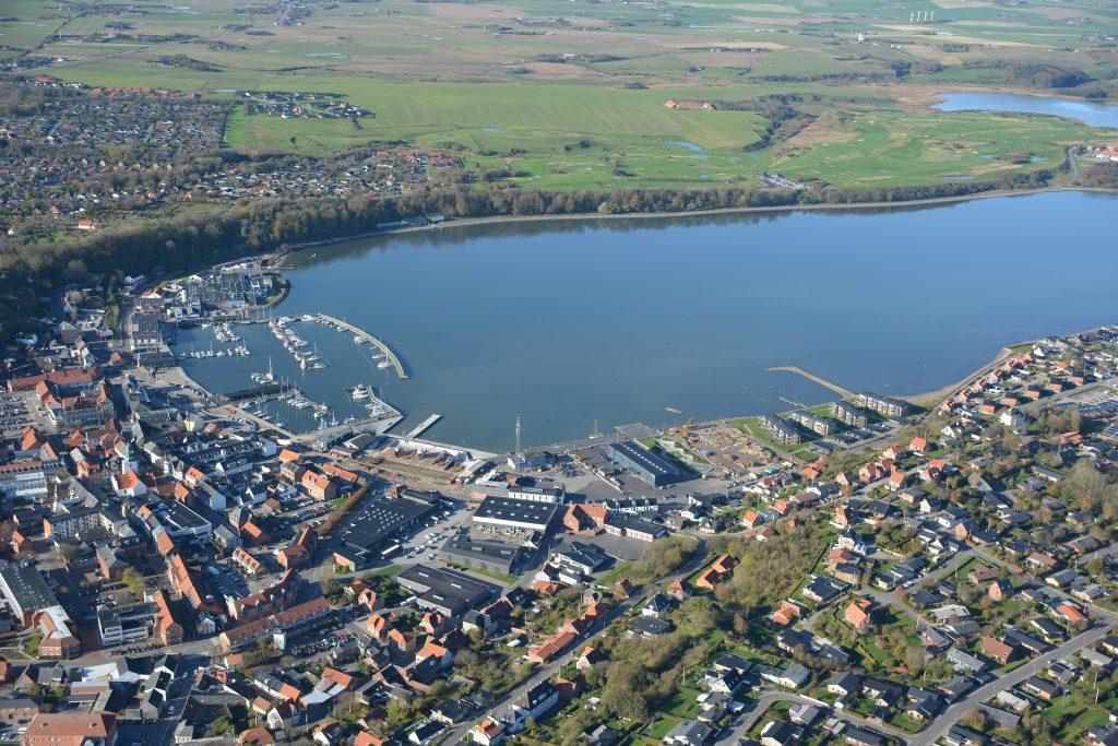 Luftfoto Lemvig by og havn, 29.10.19