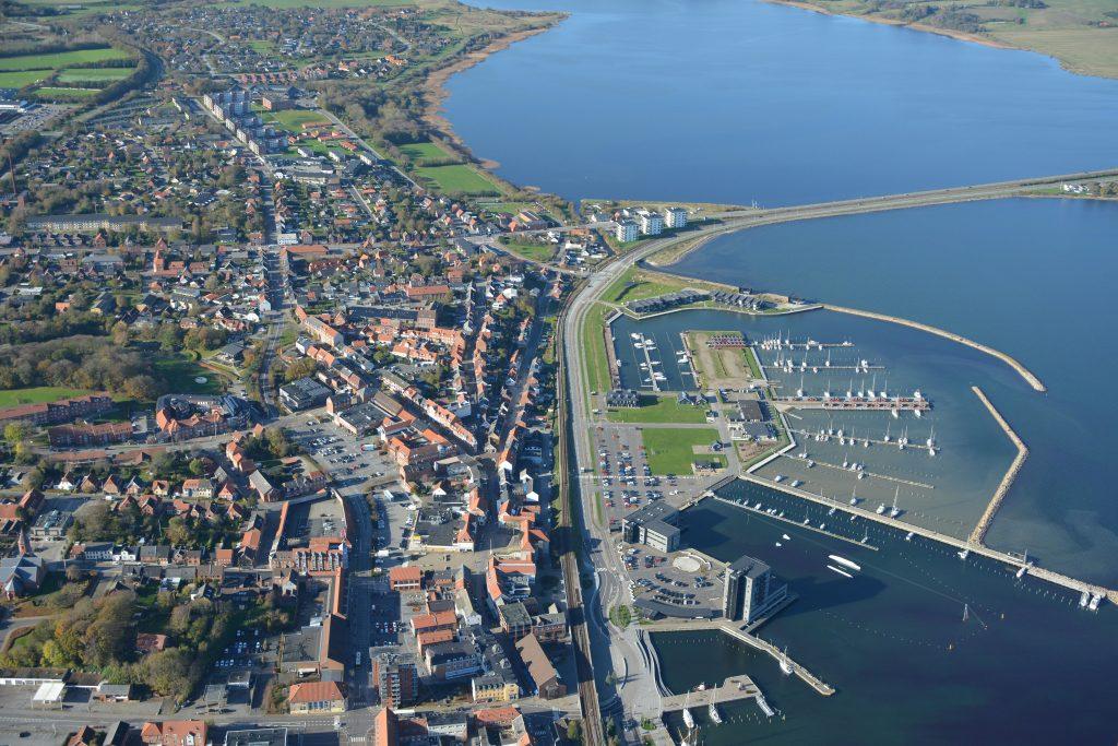 Luftfoto Struer havn og by 29.10.19